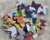 SALE 30percent off - Handpunched Lime Rickey Butterflies