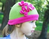 Flapper Hat Kelly Green and Deep Pink