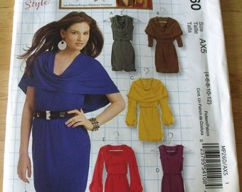 McCalls Dress Pattern MP260 Six Styles for Stretch Knits Misses Sizes 4 - 12