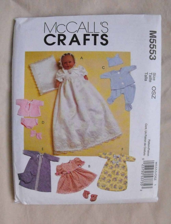 Mccalls Baby Doll Clothes Pattern M5553 For Dolls 11 13 And