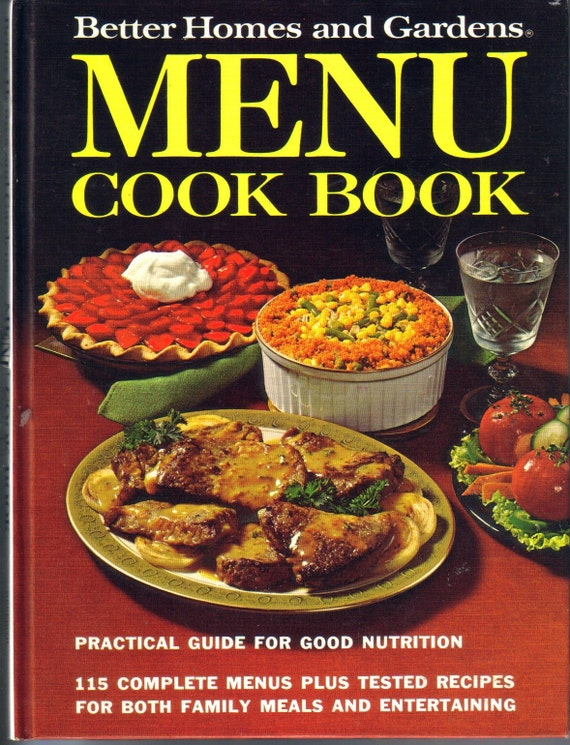 Menu Cookbook Better Homes And Gardens By Antiquesgaloregal