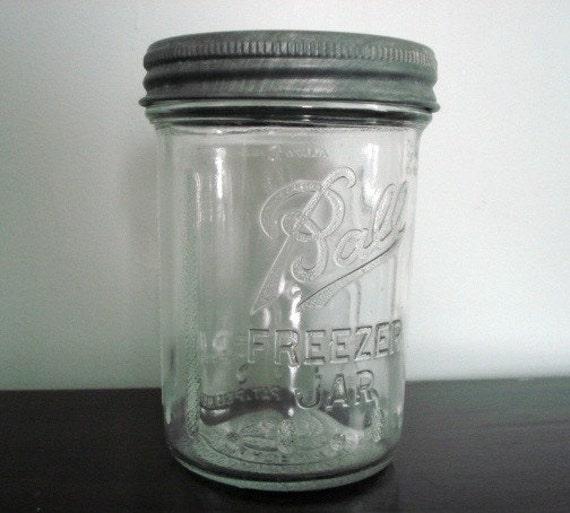 Vintage Ball Freezer Jar Metal Lid