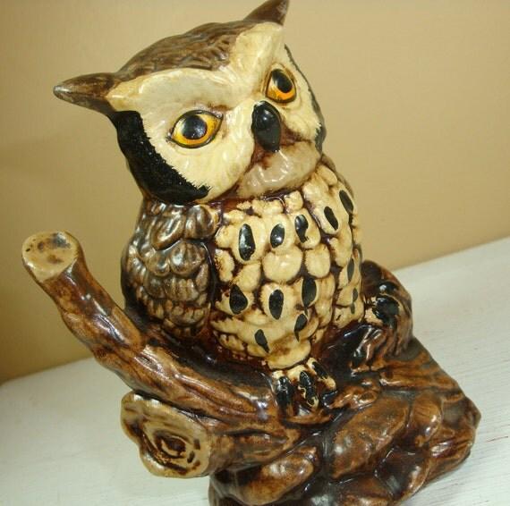 Vintage Ceramic Owl Home Decor 272 11 By Antiquesgaloregal