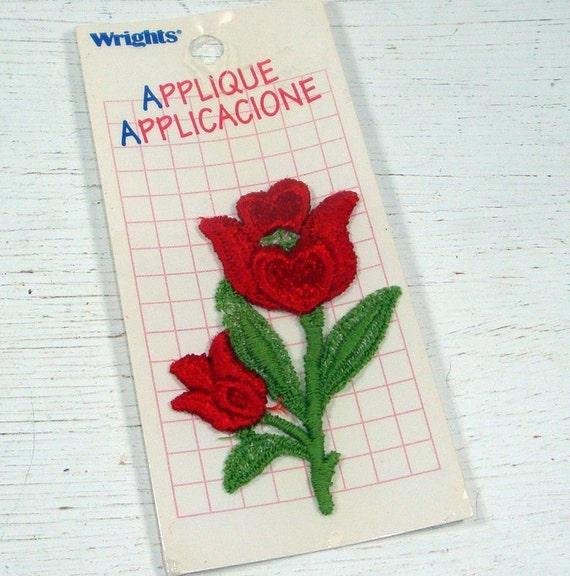 Red Rose Applique