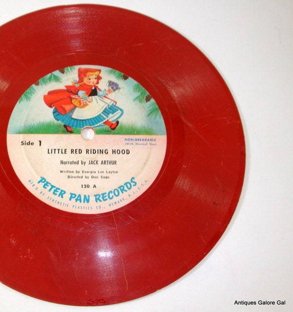 Little Red Riding Hood / Peter Pan Records / Fairy Tales / Red / Children's Record