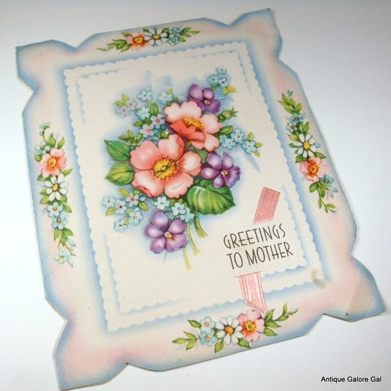 Vintage Mother's Day Greeting Card (2370)