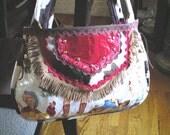 western, fabric handbag, 15% OFF, coupon, Cyber Monday, rockabilly, Retro, vintage cowgirls, horses, vinyl, faux cowhide