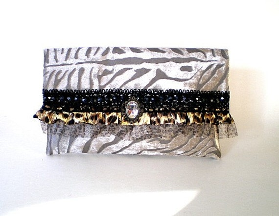 silver boho clutch, silver evening bag, bridal clutch, bridesmaid clutch, winter wedding, Victorian bag, cocktail party purse, gift for her