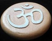 Om Hindi Sanskrit in Cast Stone