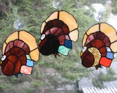 Gobble Gobble Turkey in Amazing Stained Glass