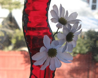 Stained Glass Rooter   Bud Vase or Fragrance Diffuser