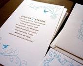 Hummingbird Letterpress Wedding Invitation