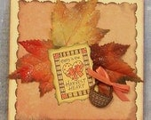 Happy is the Harvest Heart Greeting Card