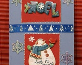 Whimsical Let It Snow Christmas Card