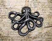 Antique Silver Cthulhu Octopus Brooch