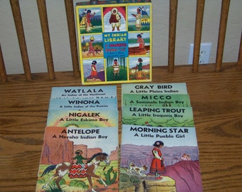 Vintage 1935 My Indian Library Book Set