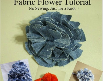 Fabric Flower Knot Tutorial- No Sewing