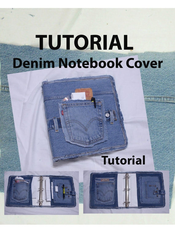 Book Cover Black Jeans : Covered denim notebook tutorial