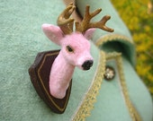 Buck Yourself Brooch/Pin - Pink and Gold Edition *Made to Order*