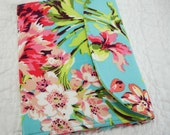 iPad Mini, Kindle Cover - Nook Cover - Kobo Cover - eReader Cover - Book Style - Amy Butler Pink and Blue Floral