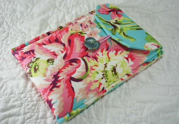 Ready To Ship Sleeve For Your Kindle Fire or Kindle 3 Bliss Bouquet By Amy Butler Love Fabric Collection