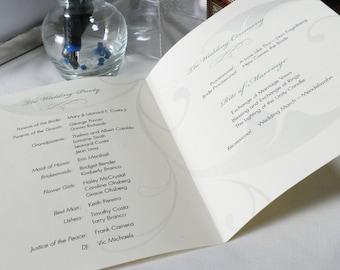 Custom Wedding Programs (50pk)