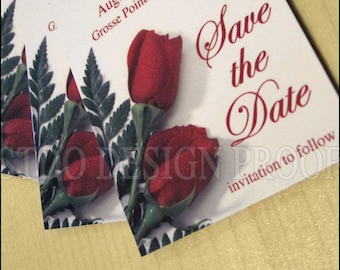 Save the date magnets with envelopes
