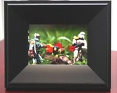 Star Wars Boba Fett  Lego mini print & tabletop frame - geekery - sci-fi - nerd - Empire