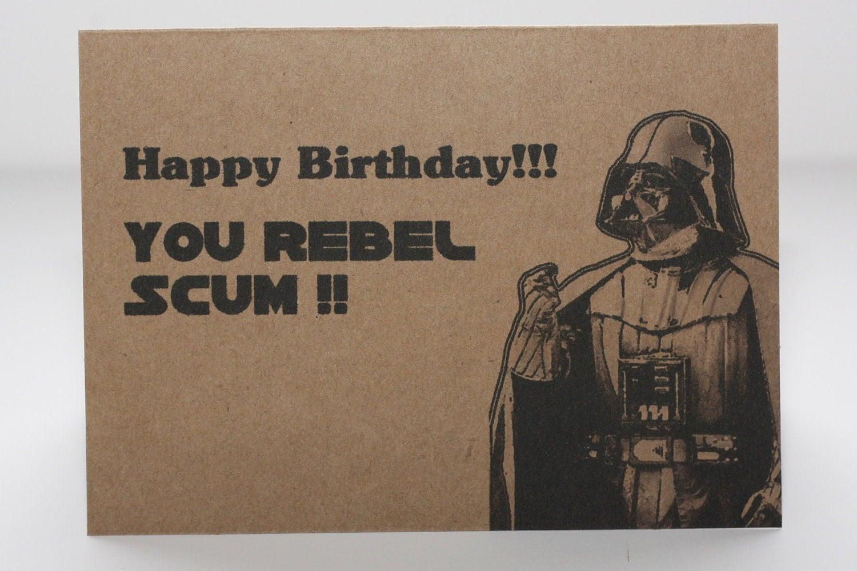 Darth Vader Birthday card and envelope Star Wars by ...