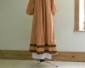 Chemise style pure cotton dress Medeival SCA garb Larp Ren Pennsic one size fits all Ooak