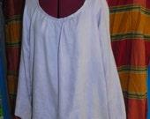 Chemise style shirt blouse SCA Pennsic Ren damask linen free size