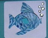 Fish Iris Fold Card