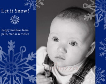 Let it Snow - Holiday Photo Card