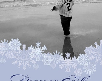 Peaceful Snowflakes - Holiday Photo Card