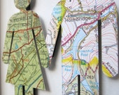 Where We're From - Vintage Map Art People