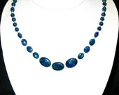 Azurite with Sterling Silver Clasp and Spacers