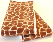 Giraffe Print Burp Cloth Set - Set of Two