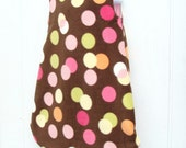 Baby Sleeper Blanket Sack - Brown with Circles - Anti Pill Fleece