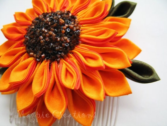 Large Sunflower Kanzashi