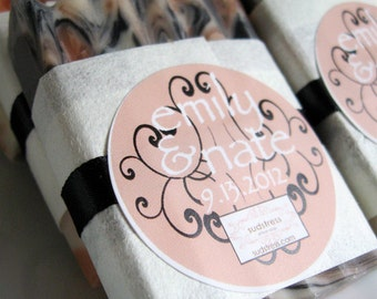 Personalized Wedding Favors - 50 custom guest soaps