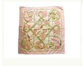 HERMES caraibes by Christiane Vauzelles silk twill scarf 90x90CM P1430738
