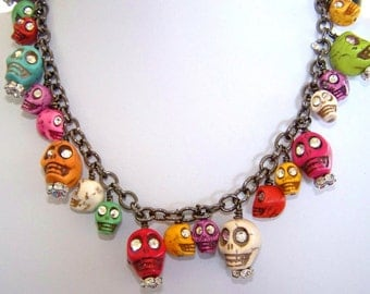 SKULL NECKLACE Who Says  Skulls Are Creepy Necklace