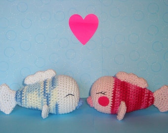 Kissing Fish PDF Crochet Pattern