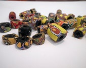 Lot of 37 Vintage Handmade Clay Beads