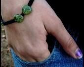 Black hemp and Serpentine bracelet or anklet