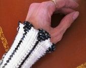 Custom Beaded Wrist Warmers
