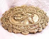 Vintage Solid Brass Cowboy Belt Buckle by Baron. J13