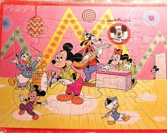 Vintage Mickey Mouse Club Disney Jaymar Puzzle. Mickey's Band.
