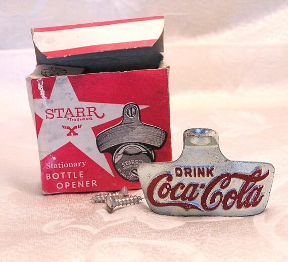 vintage starr x coca cola wall mount bottle opener by. Black Bedroom Furniture Sets. Home Design Ideas