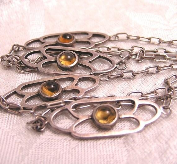 Antquie Art Deco Hand Made Sautoir 1920s Flapper Necklace